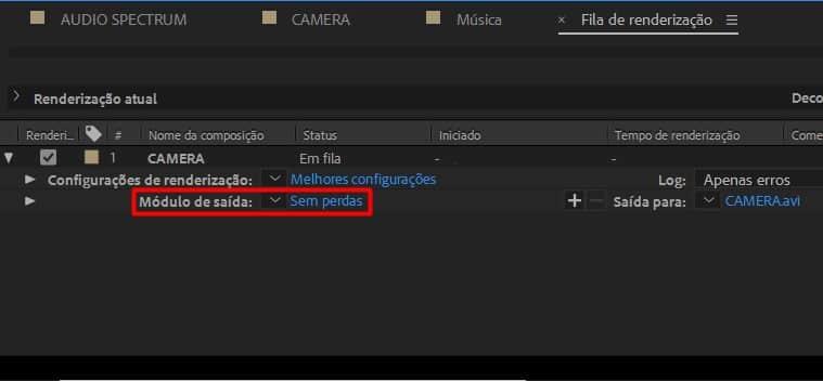 Escolhendo os formatos de vídeo no After Effects