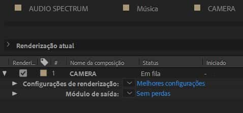 Exportando vídeo com Audio Spectrum no After Effects