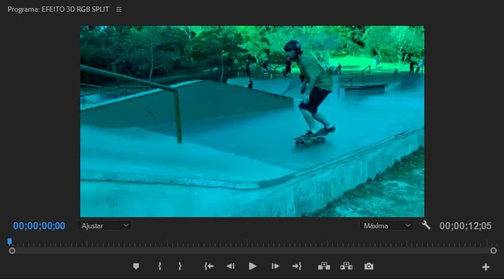 Imagem do vídeo azulada