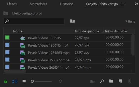 Como fazer o Efeito vertigo: importando arquivos para o Premiere