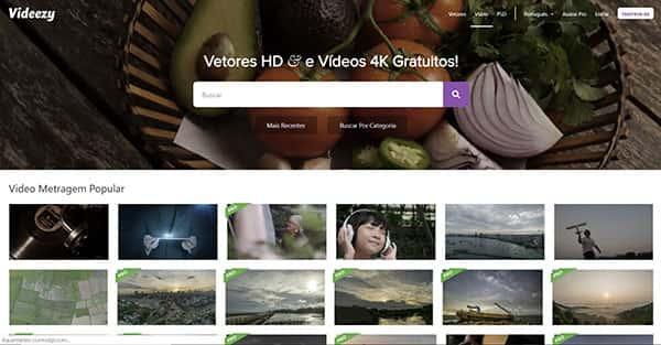 Videezy: banco de vídeos