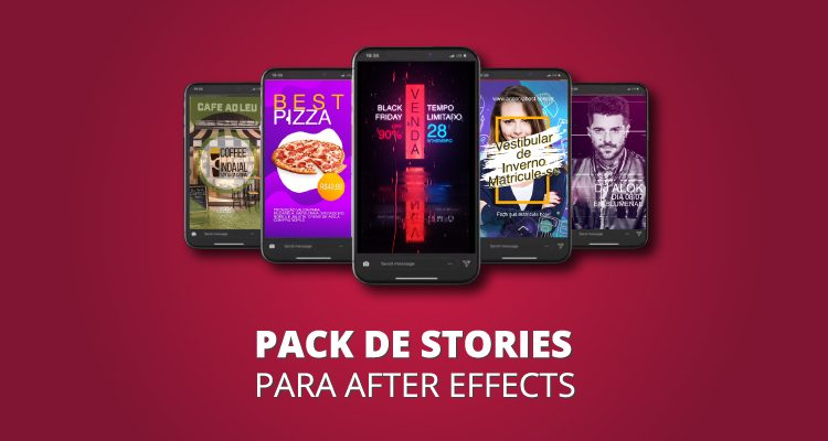 Pack de Stories Animados para Redes Sociais