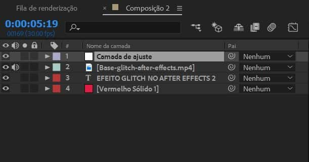 Criando camada de ajuste no After Effects