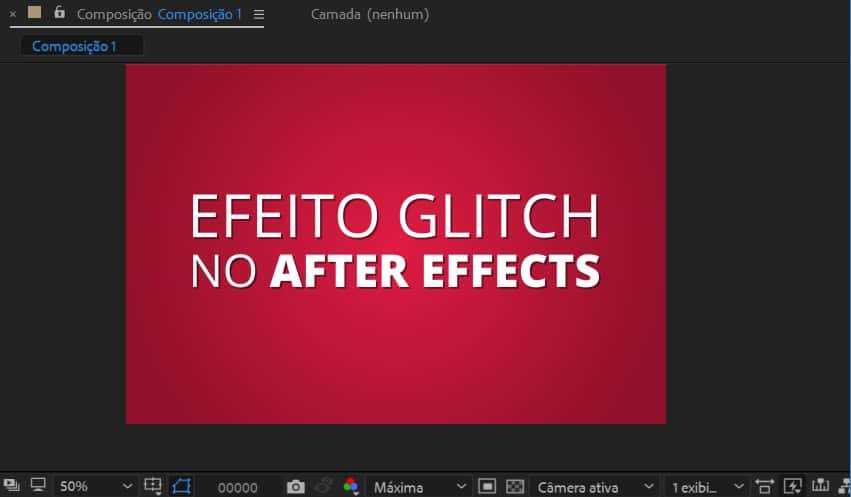 Criando o vídeo no After Effects