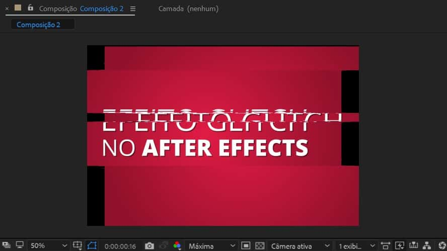 Preview do vídeo no After Effects